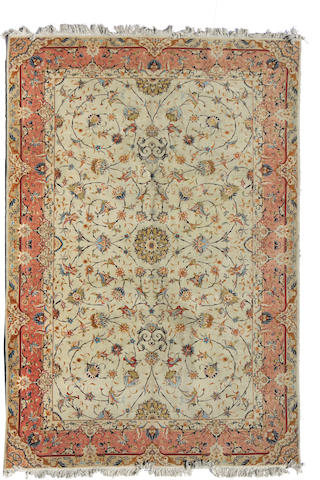 A Turkish rug size approximately 6ft. 6in. x 9ft. 10in.