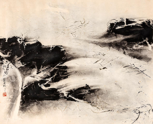 Liu Guosong (Liu Kuo-Sung)(born 1932) Abstract Landscape, 1966
