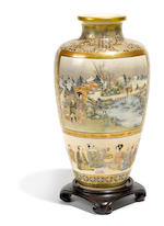 A large Satsuma vase Meiji period (late 19th century)