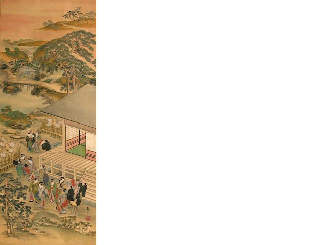 Kitagawa Tsukimaro (fl. ?-1830) Spring Excursion