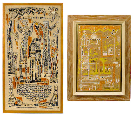 Mary Bowling - two framed mosaics