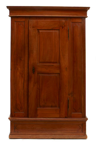 A Continental Baroque walnut cabinet