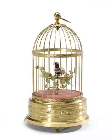 A singing bird in cage automaton<BR />mid 20th century