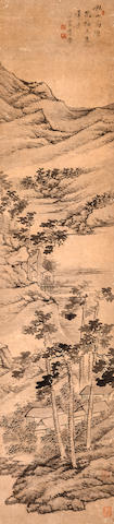 Li Xin (early 19th century) Landscape after Wu Zhen