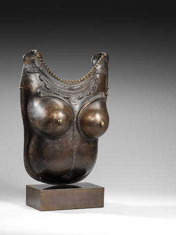 Bronze female torso plate Tamil Nadu, Southern India 18/19th C