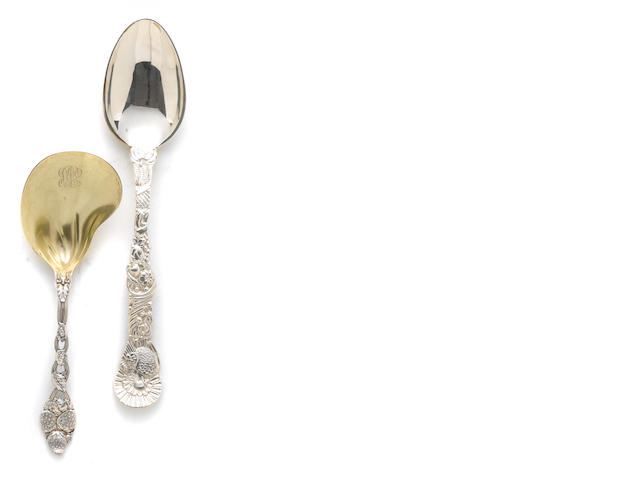 A sterling group of two serving spoons by Tiffany & Co., New York, NY  (2)