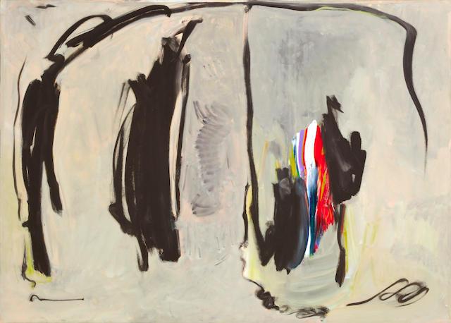 Julius Wasserstein, Abstract composition (Helmet Series), o/c, 5 x 7ft