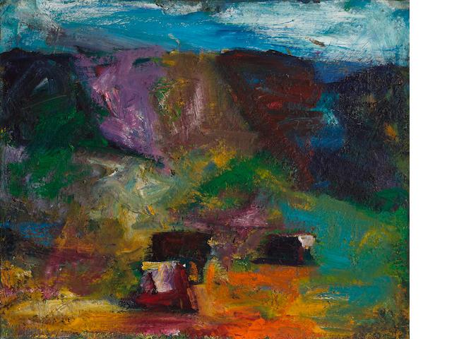 Terry St. John (born 1934) Mt. Diablo Ranch, 1995 30 x 36in (76.2 x 91.4cm)