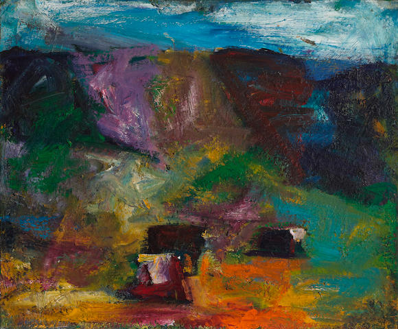 Terry St. John (born 1934) Mt. Diablo Ranch, 1995 30 x 36in (76.2 x 91.4cm)