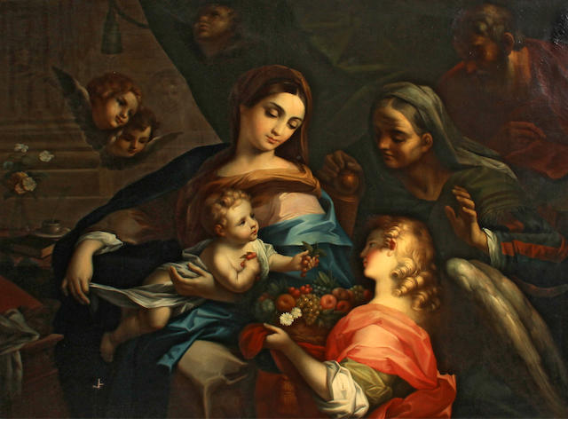 Roman School, 19th Century The Holy Family with Saint Anne 48 1/4 x 62in