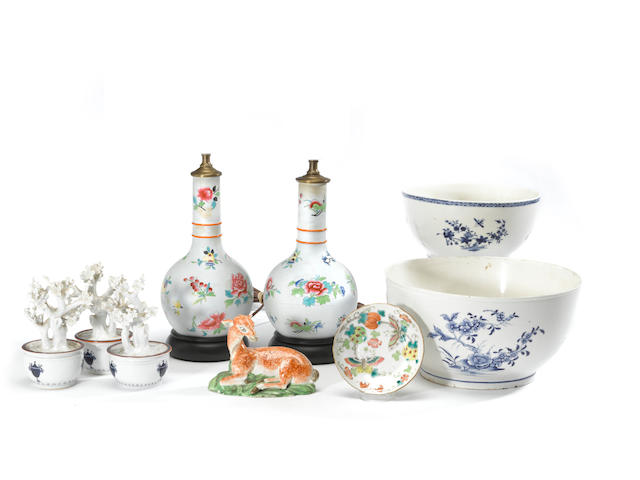 An assembled group of European ceramics 18th/19th century