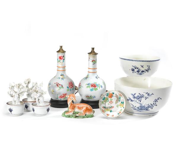 An assembled group of European ceramics 18th/19th century