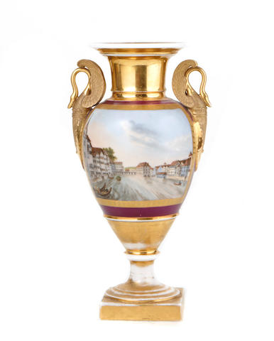 A Paris porcelain vase