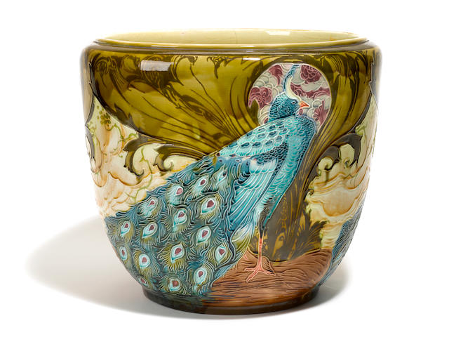 An English glazed earthenware jardinière