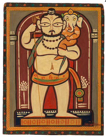 Jamini Roy (1887-1972) Ganesh with Shiva