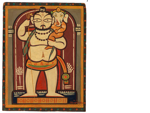 Jamini Roy,  Ganesh with Shiva