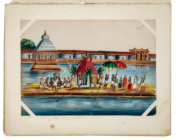 A collection of forty-nine Company School studies  watercolor on mica, India 19th century
