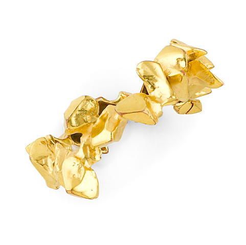 A Alicia Peñalba for ArtCurial gilt-bronze bracelet