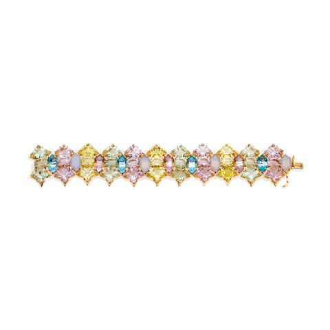 A gem-set bracelet, Tony Duquette