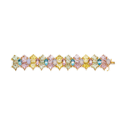 A gem-set bracelet, Tony Duquette