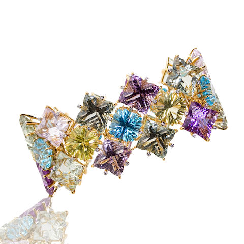 A gem-set and diamond bracelet, Tony Duquette