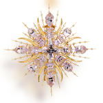 An amethyst and diamond brooch, Tony Duquette