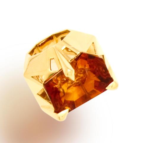A citrine ring, Tony Duquette
