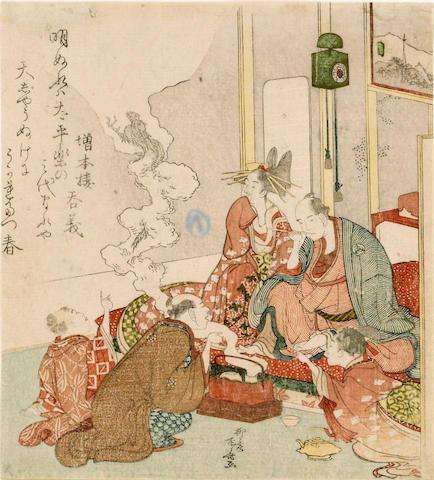 Ryuryukyo Shinsai (act. ca. 1799-1823)<BR />One surimono