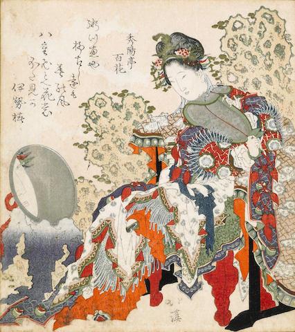 Totoya Hokkei (1780-1850)<BR />One surimono