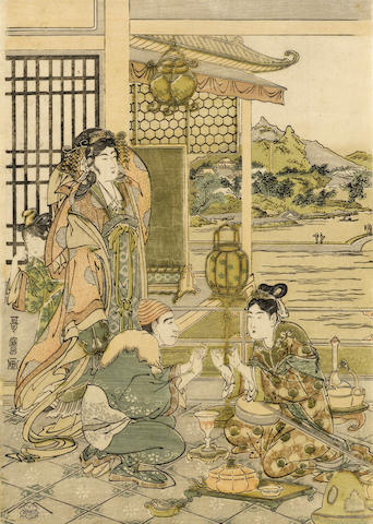 Kitagawa Utamaro (1754-1806)<BR />Two woodblock prints