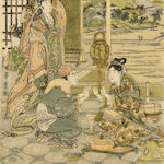 Kitagawa Utamaro (1754-1806)<BR />Two woodblock prints