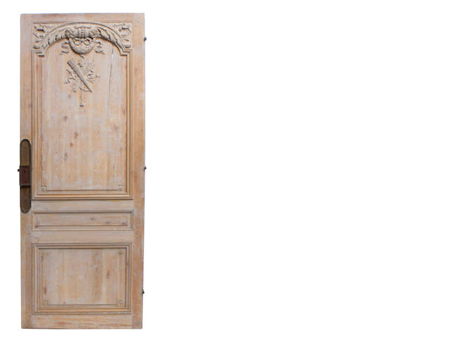 A Louis XVI style paint decorated door
