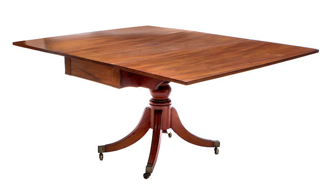 A George IV mahogany drop leaf table