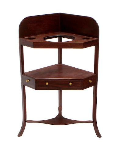A George III style mahogany washstand
