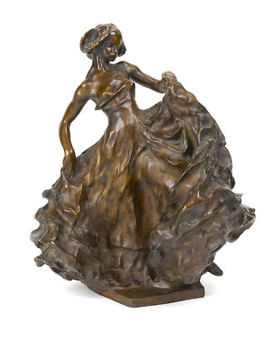 Carl Milles bronze figure