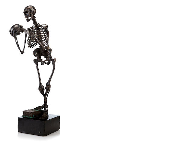Bronze figure of Skeleton by Carl Kauba, signed