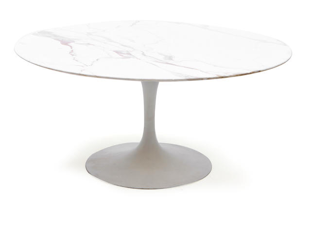 An Eero Saarinen for Knoll Tulip cocktail table with marble top