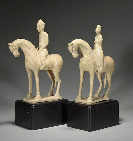 Two straw glazed equestrian figures Sui/early Tang Dynasty  STYLE?