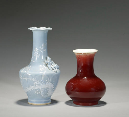 Two porcelain vases