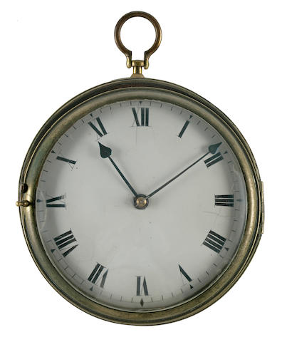 A mahogany and brass sedan clock 19th century