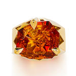 A citrine ring, Tony Duquette