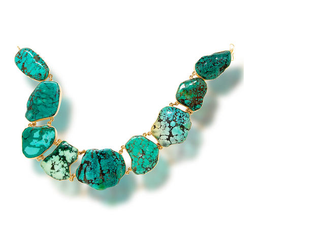 A turquoise necklace, Tony Duquette