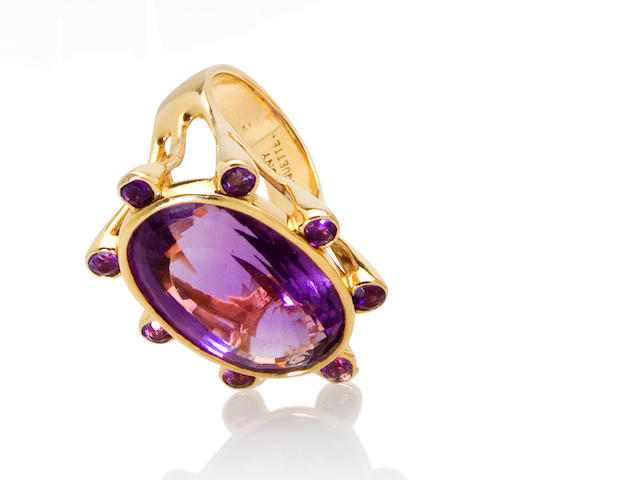 An amethyst ring, Tony Duquette
