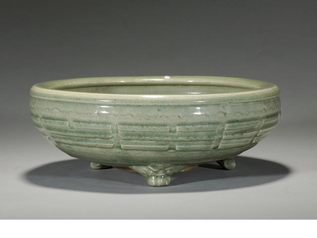 A Longquan celadon footed censer Ming dynasty