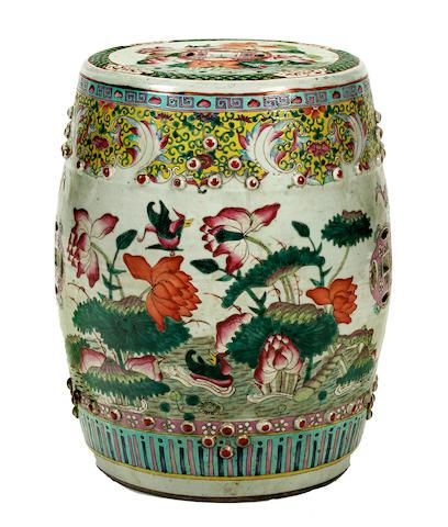 Chinese Famille Rose Porcelain Garden Stool, Porcelain Garden Stools Chinese