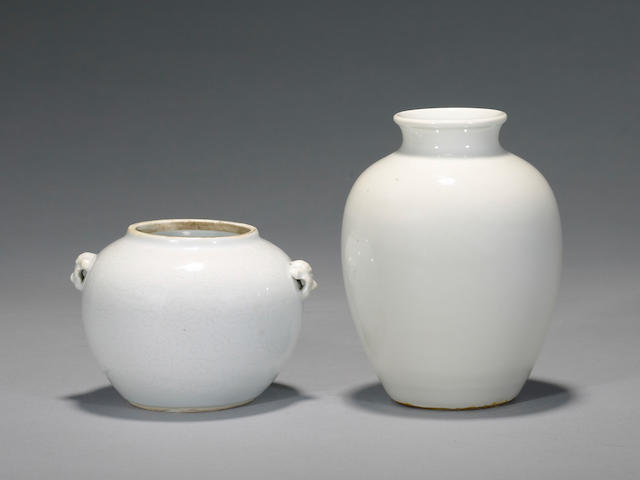 Two white ware vessels