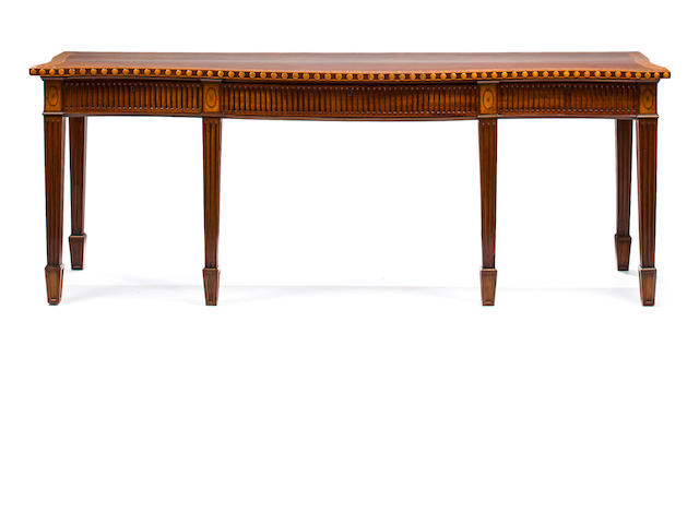 A George III Inlaid Mahogany and Satinwood Serving Table