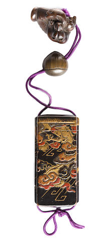 A four-case lacquer inro Edo period, 19th century