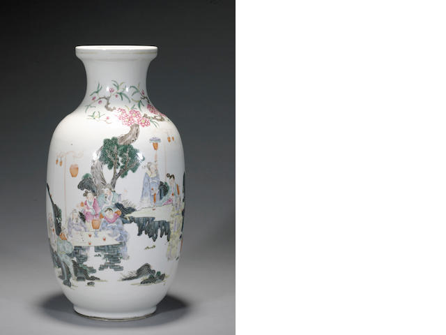 A famille-rose enameled porcelain vase Late 19th century