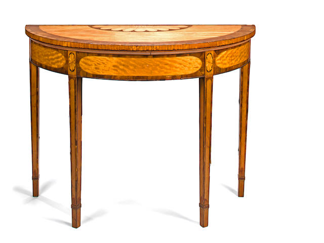A George III demi-lune table